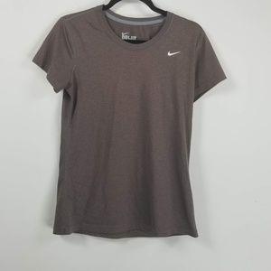 Nike DRI-FIT shortsleeve tshirt size M brown